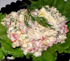 Салат з крабових паличок калорійність