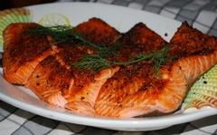 Скільки калорій в лососеві