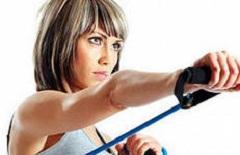 Вправи з еспандером для грудних м'язів